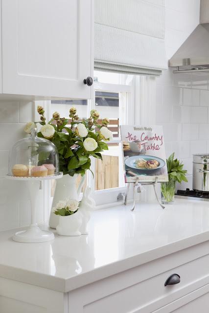 Detalhes de cozinha branca