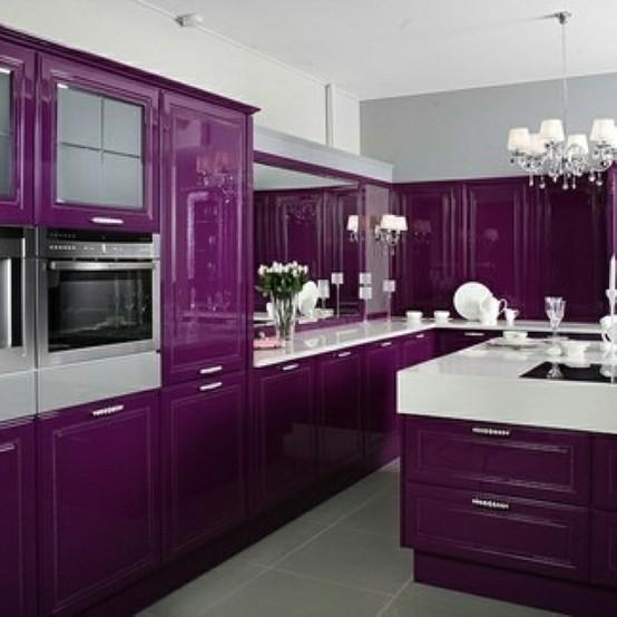 Roxo na decora??o, blog detalhes magicos cozinha 3