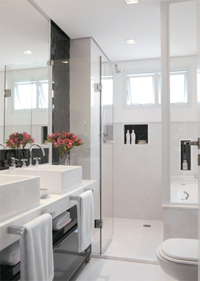 Para o dia começar feliz  Detalhes Mágicos -> Banheiros Decorados Roca