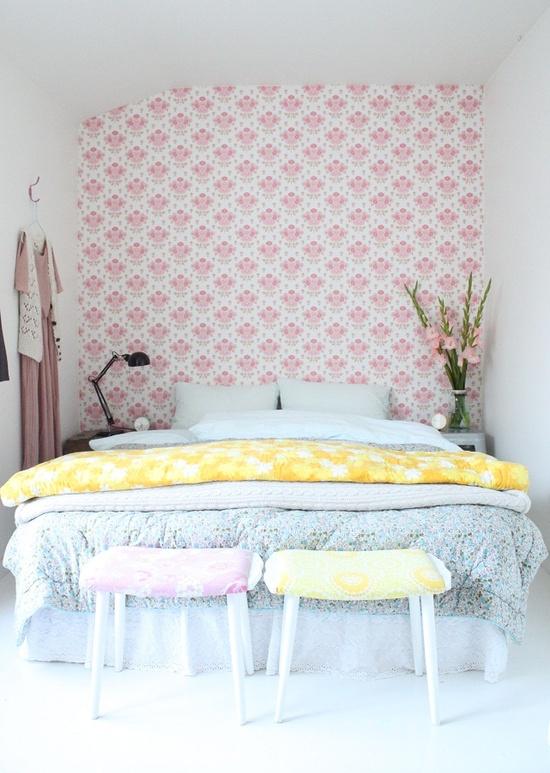 Tecido nas paredes no blog detalhes magicos