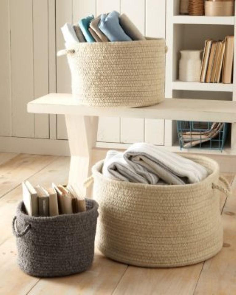 Organizando com cestos detalhes m gicos - Cesto para mantas ...