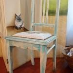 Cadeira restaurada no blog detalhes magicos
