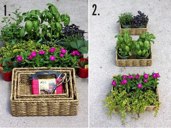 Jardim nos cestos, blog Detalhes Magicos