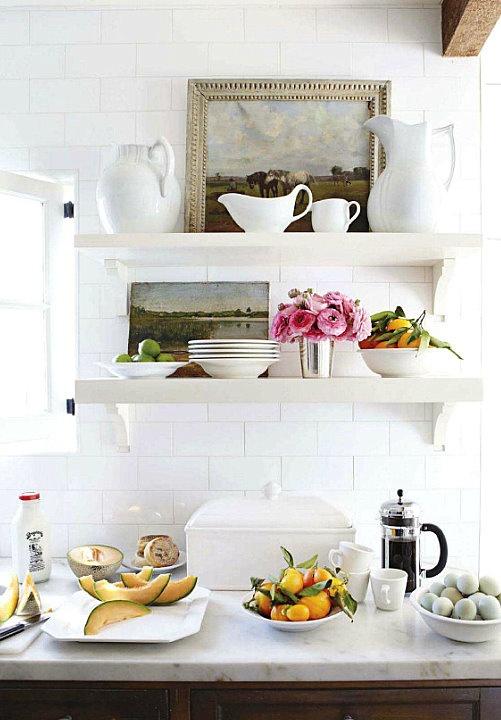 Prateleiras na cozinha no blog Detalhes Magicos