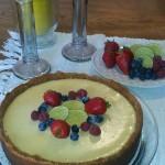 Receita de torta de limão e molho de framboesas no blog Detalhes Magicos