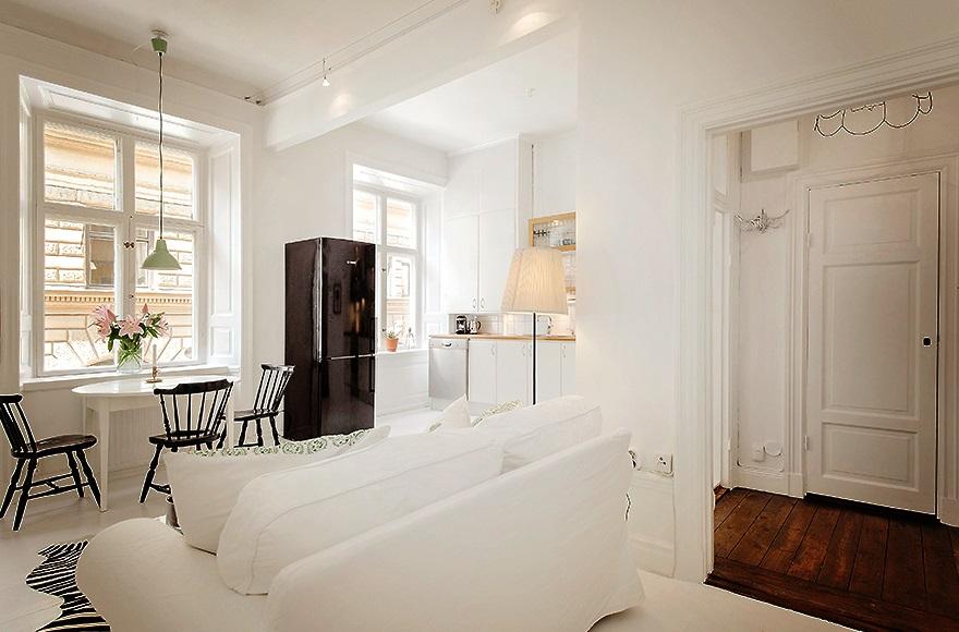 Pequeno apartamento em Estocolmo, no blog Detalhes Magicos
