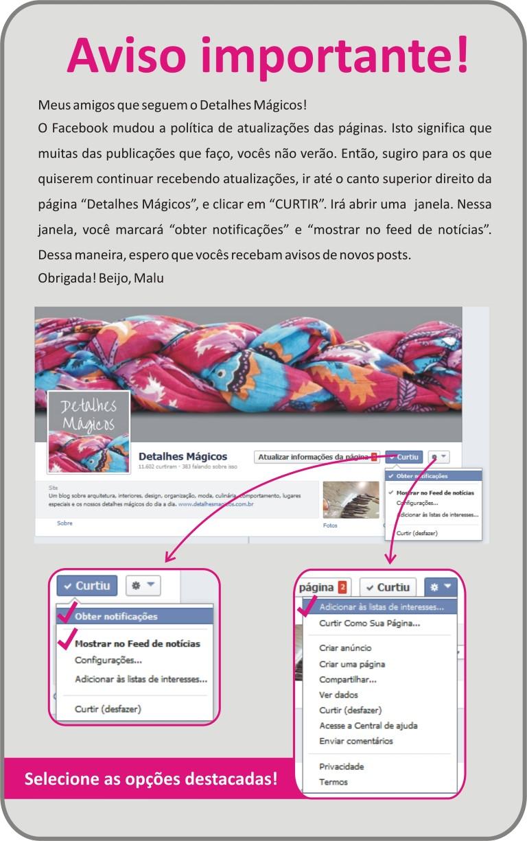 Detalhes_Magicos no Facebook - notificações