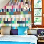 Apartamento com cor e grafismos no blog Detalhes Magicos