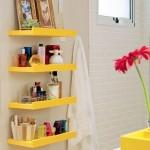 Organização - Prateleiras no banheiro, blog Detalhes Magicos