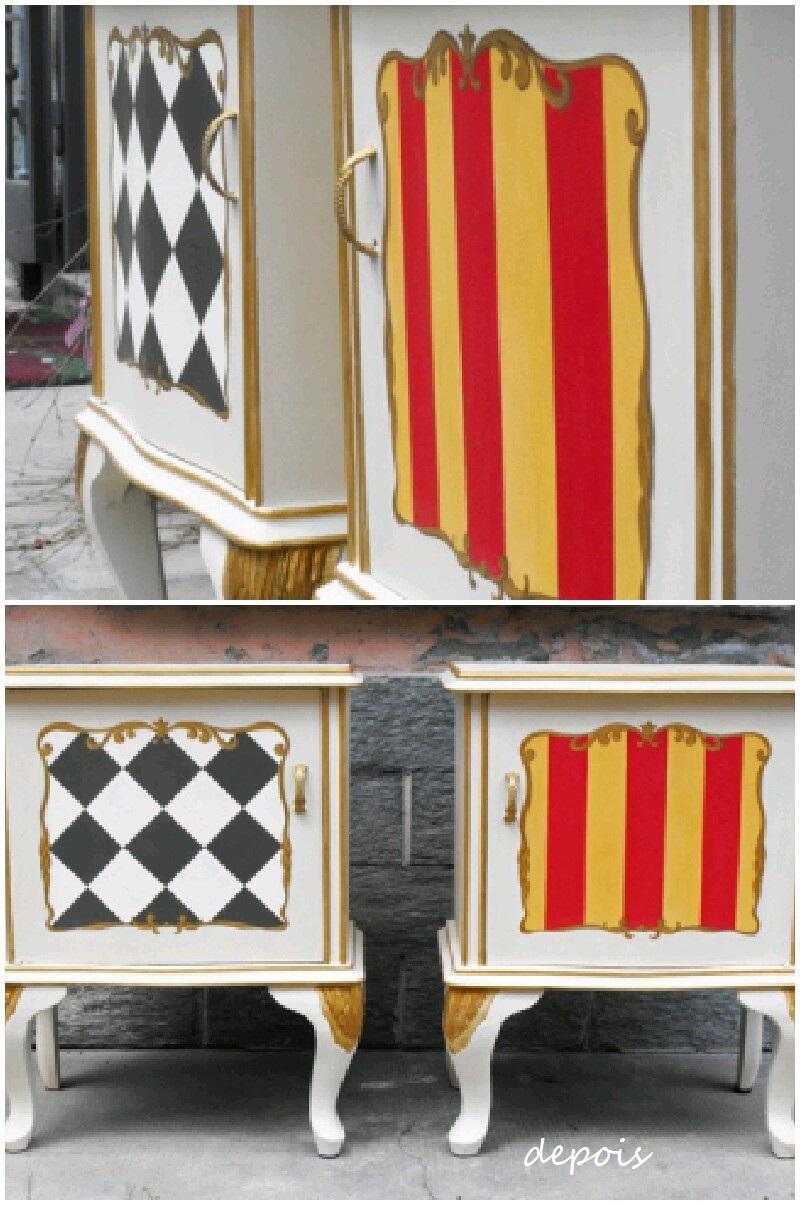 Antes e depois de um movel reciclado, blog Detalhes Magicos