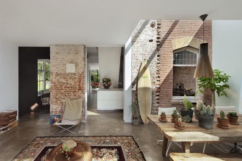 15 paredes para amar tijolo vista detalhes m gicos for Piani di casa cottage con portici