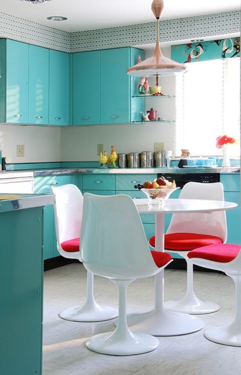 Cozinha colorida no blog Detalhes Magicos