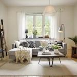 Apartamento quarto e sala escandinavo no blog Detalhes Magicos