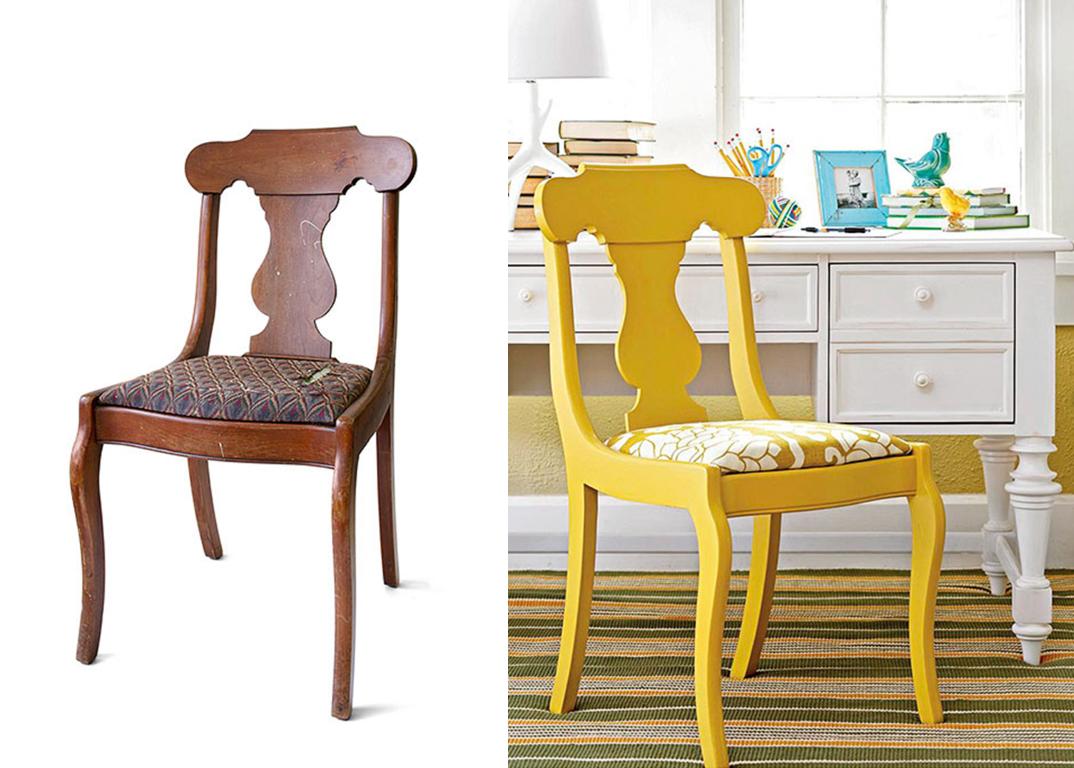 Antes e depois de cadeiras no blog Detalhes Magicos #B59616 1074x768