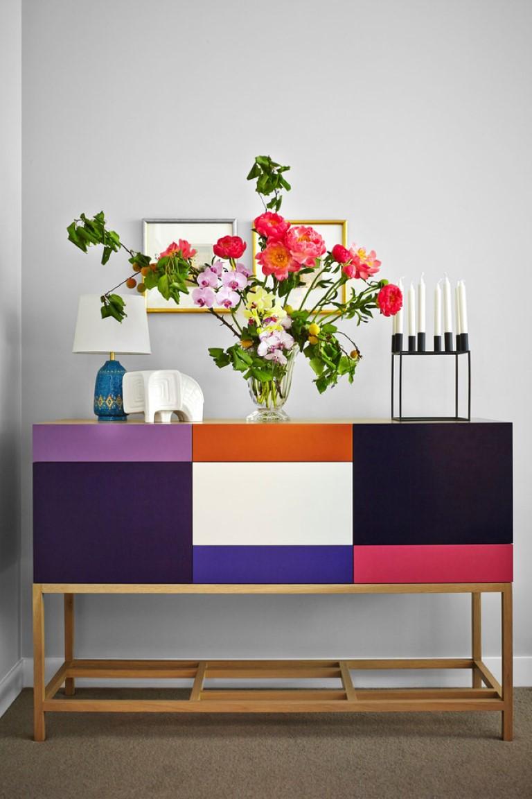 Apartamento colorido no blog Detalhes Magicos