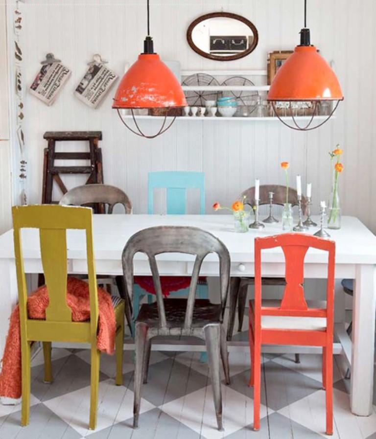 Cadeiras coloridas no blog Detalhes Magicos borda