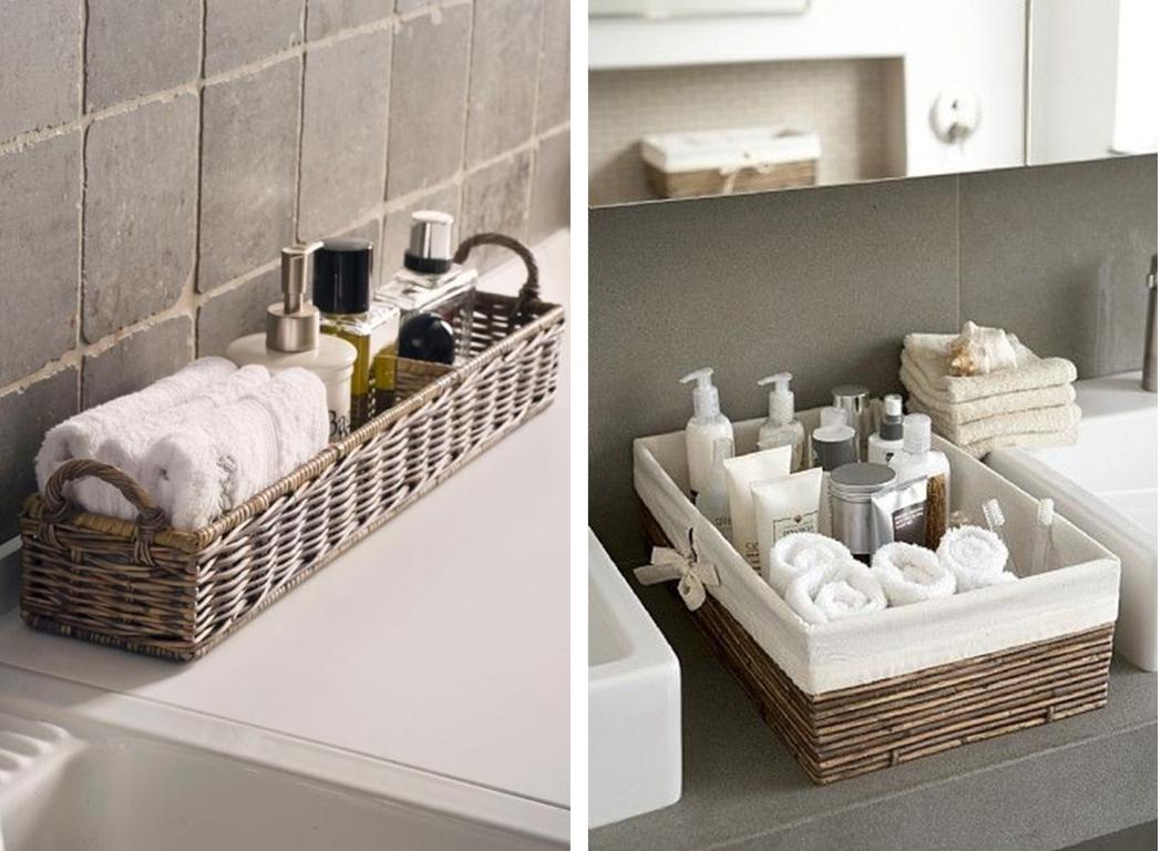 Cestos no banheiro blog Detalhes Magicos #5D4E3F 1048 768