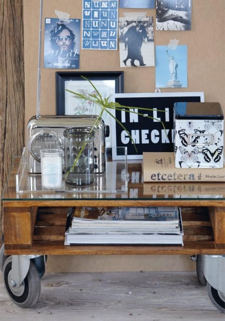 Mesa de pallets no blog Detalhes Magicos