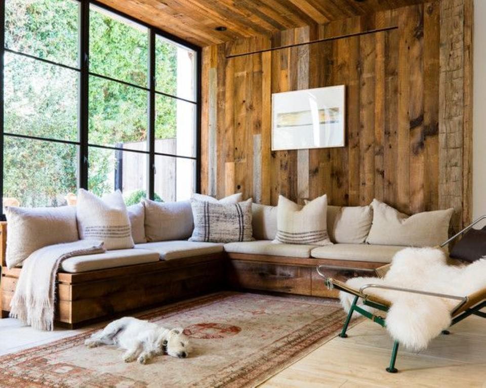Paredes com pallets detalhes m gicos for Salones de madera modernos