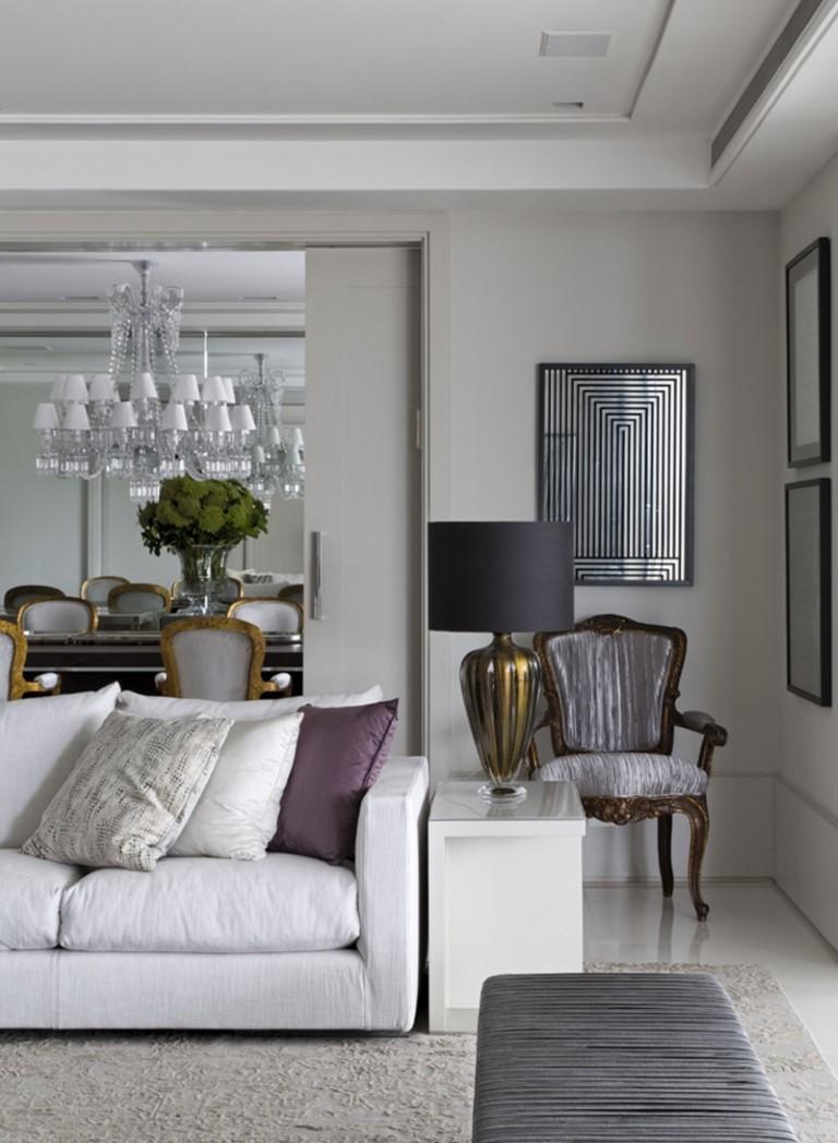 O charme do cinza detalhes m gicos - Interiorismo de salones ...