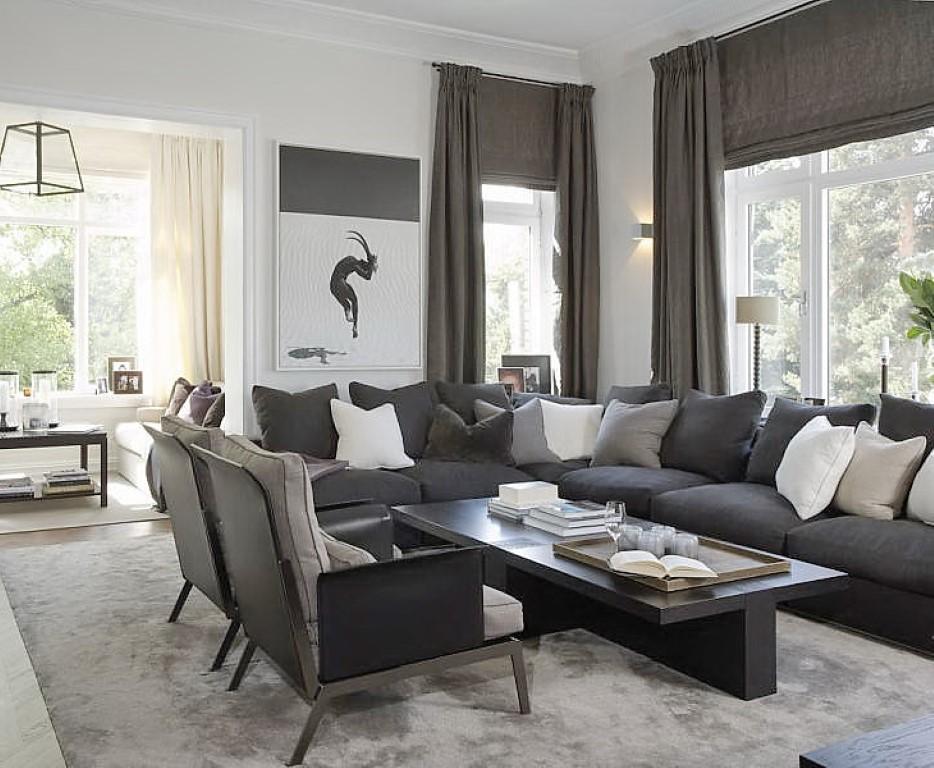 Sala De Estar Na Cor Cinza ~ Cor cinza na sala de estar, blog Detalhes Magicos