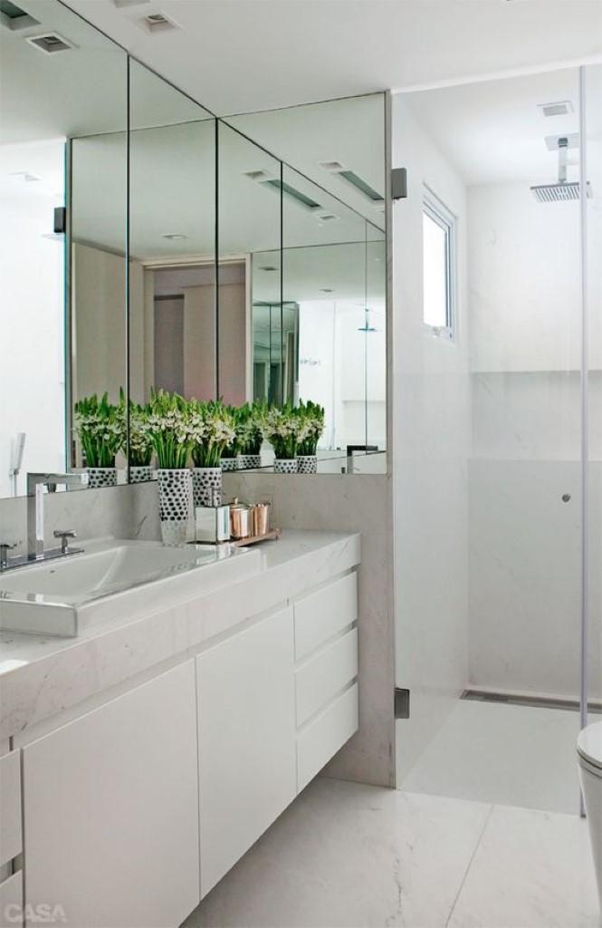 #474729 O charme do banheiro brancoDetalhes Mágicos 665x1024 px Banheiro Simples Todo Branco 2018 3801