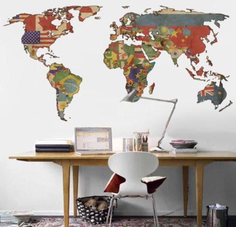 mapa-mundi-na-parede