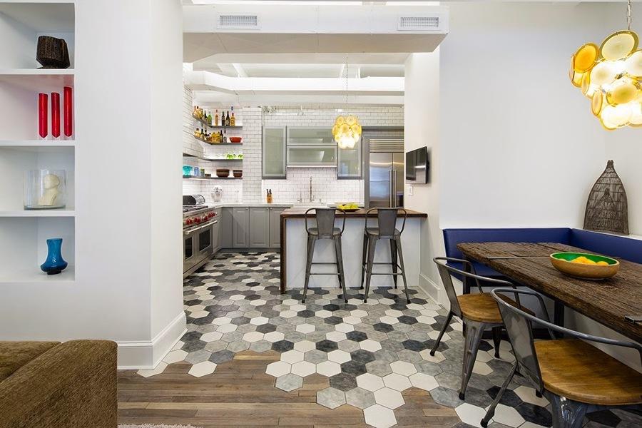 Revestimento hexagonal no piso detalhes m gicos - Connection between lifestyle home design ...