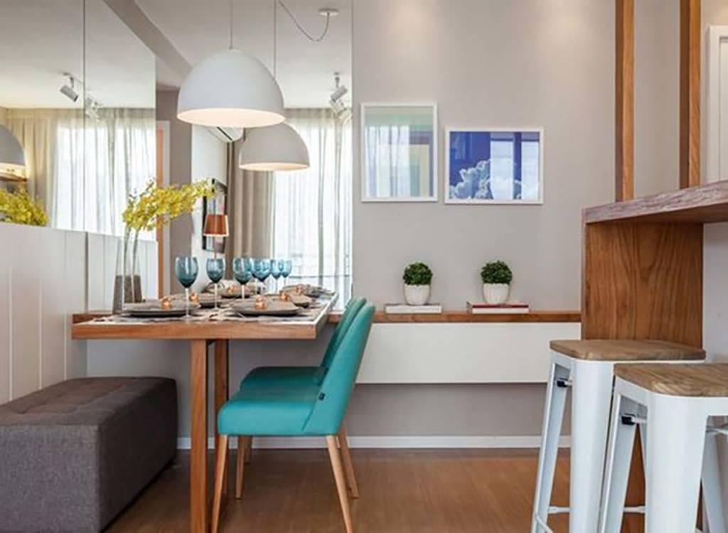 Sala de jantar em apartamento pequeno detalhes m gicos for Mesas para apartamentos pequenos